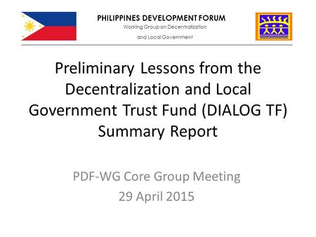 Updates On The Pdf- Decentralization And Local Governments (Pdf
