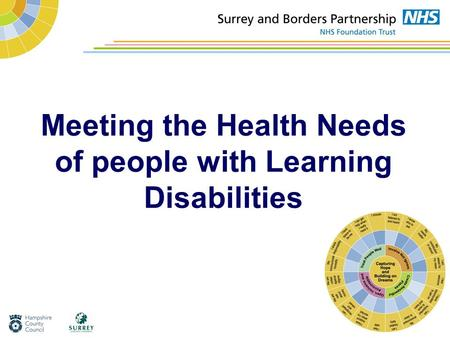 Meeting the Health Needs of people with Learning Disabilities.