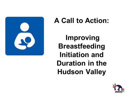 A Call to Action: Improving Breastfeeding Initiation and Duration in the Hudson Valley.