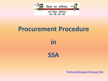 Procurement Procedure