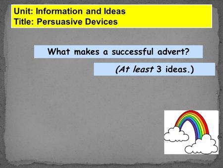 What makes a successful advert?