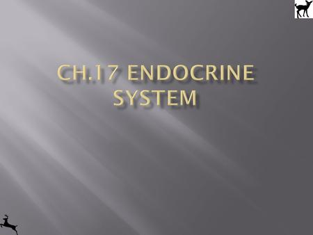 Ch.17 Endocrine system.