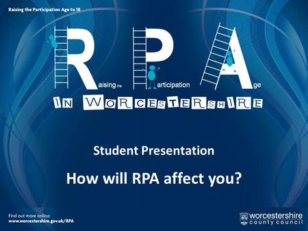 Student Presentation How will RPA affect you?. Your future starts here…