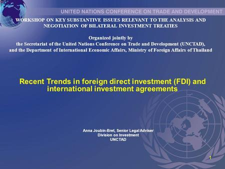 International Investment Treaties In South America November Ppt
