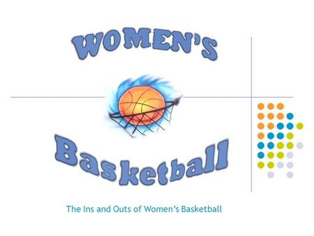 The Ins and Outs of Women's Basketball. The Creator of…..BASKETBALL DR. JAMES NAISMITH.