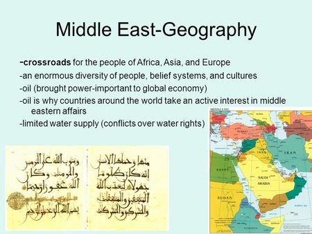 Middle East-Geography