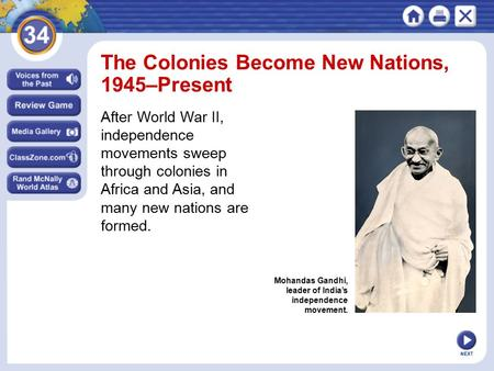 The Colonies Become New Nations, 1945–Present