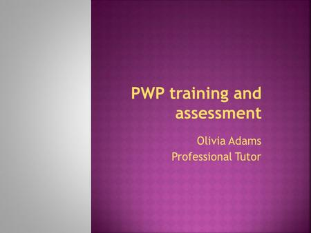 PWP training and assessment