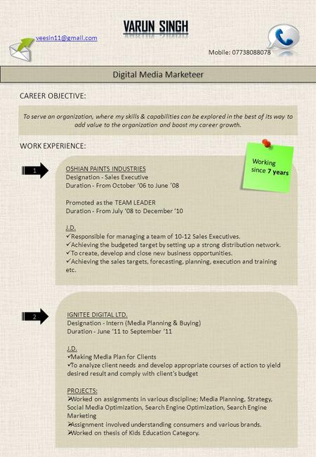 Mobile: 07738088078 Digital Media Marketeer CAREER OBJECTIVE: To serve an organization, where my skills & capabilities can be explored.