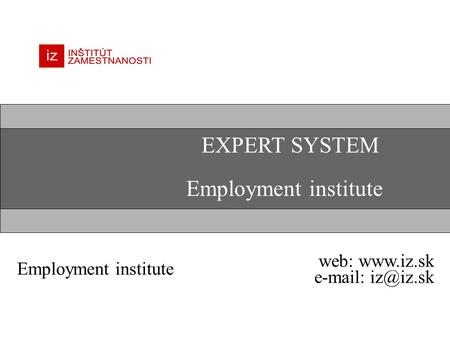 EXPERT SYSTEM Employment institute web:
