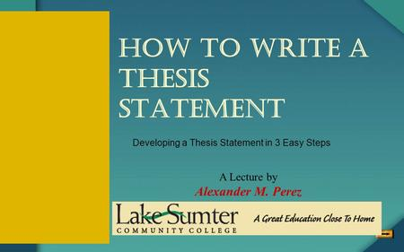 tips on writing a great thesis