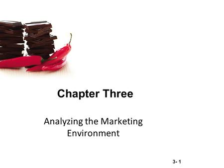 3- 1 Chapter Three Analyzing the Marketing Environment.