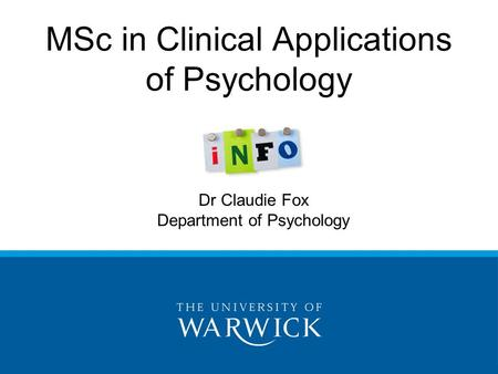 MSc in Clinical Applications of Psychology