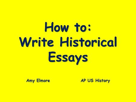 How to Write an AP US History DBQ Essay