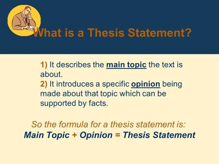 formula for a thesis statement