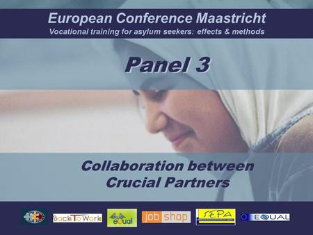 European Conference Maastricht Vocational training for asylum seekers: effects & methods Collaboration between Crucial Partners Panel 3.