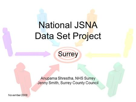 DRAFTNovember 2009 Surrey Anupama Shrestha, NHS Surrey Jenny Smith, Surrey County Council National JSNA Data Set Project.