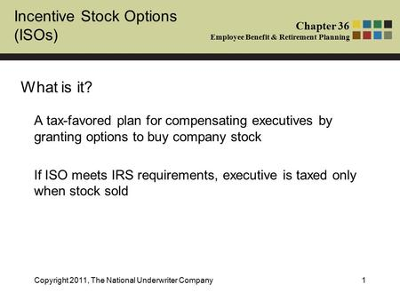 Incentive stock options taxable