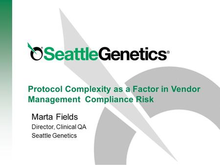 Protocol Complexity as a Factor in Vendor Management Compliance Risk