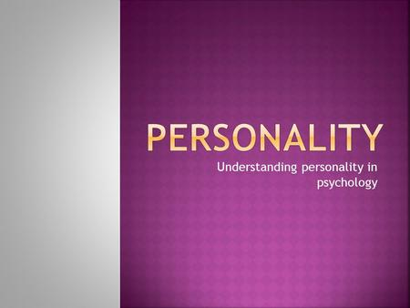methods of personality assessment in psychology pdf