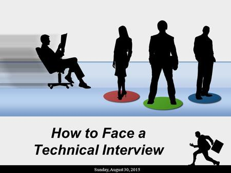 How to Face a Technical Interview Sunday, August 30, 2015.