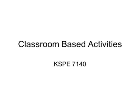 Classroom Based Activities KSPE 7140. According to the CDC Behavioral Risk Factor Surveillance System on Obesity (by BMI) in Georgia, individuals under.