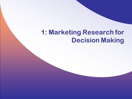 1: Marketing Research for Decision Making. 1-2 Copyright © 2008 by the McGraw-Hill Companies, Inc. All rights reserved. Hair/Wolfinbarger/Ortinau/Bush,