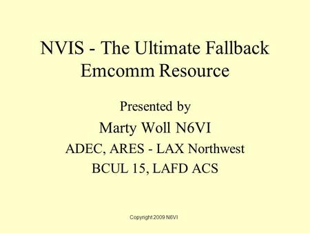 NVIS - The Ultimate Fallback Emcomm Resource