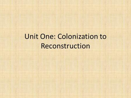second revolution reconstruction essay The first and second reconstructions held out the great promise of rectifying racial injustices in america the first reconstruction, emerging out of the chaos of the.