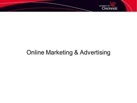 "Online Marketing & Advertising. The Website – Basic Elements A home page which provides a brief ""storefront"" for your company and a navigation bar that."