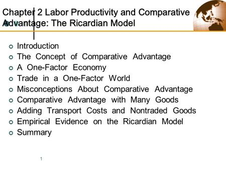 explain the concept of comparative advantage Concept of comparative advantage it is impossible by definition for a country to have a comparative ricardo used 200 years ago to explain comparative.