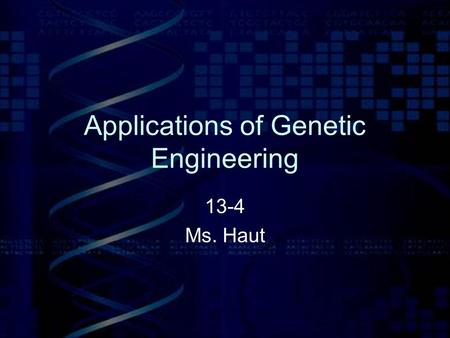 application of plant genetic engineering pdf