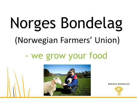 Norges Bondelag (Norwegian Farmers' Union) - we grow your food.