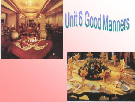 Table manner between china and america