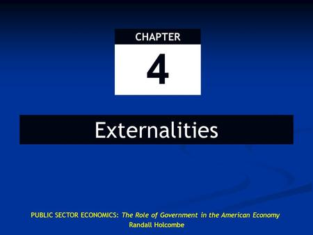 Definition of an Externality