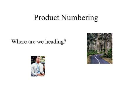 Product Numbering Where are we heading?. We know what we want Discovery, access and distribution Multimedia formats Digital Rights Management.