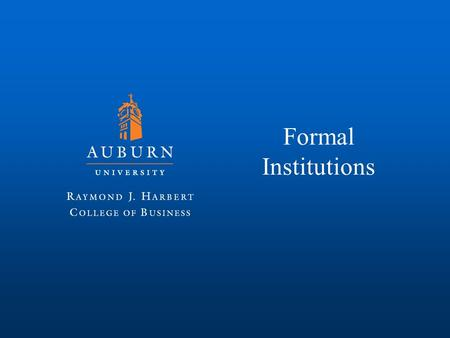 Formal Institutions.