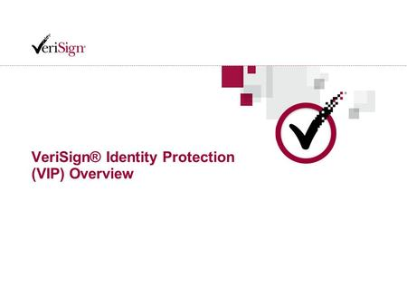 VeriSign® Identity Protection (VIP) Overview. 2 2 VeriSign Confidential Trust on the Internet is More Compelling Than Ever 1.5 billion Internet users.
