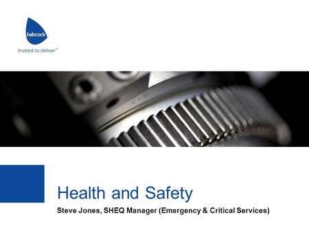 Steve Jones, SHEQ Manager (Emergency & Critical Services)