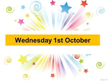 Wednesday 1st October. Clubs Badminton Miss Dickman All year groups 3pm – 4pm GSOS Hall (You MUST bring a change of trainers!) Football Mr McCloy All.