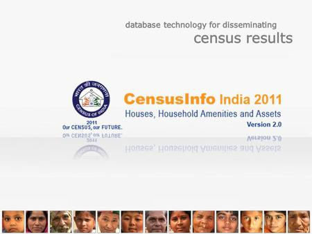 About Censusinfo India 2011 Dashboard An animated dashboard giving a single view consolidated report on Census results has been developed using DevInfo.