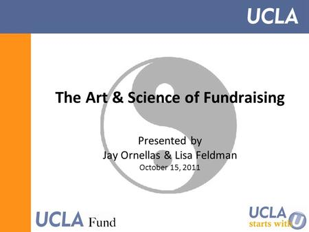 The Art & Science of Fundraising