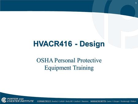 OSHA Personal Protective Equipment Training