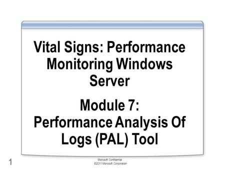 Vital Signs: Performance Monitoring Windows Server