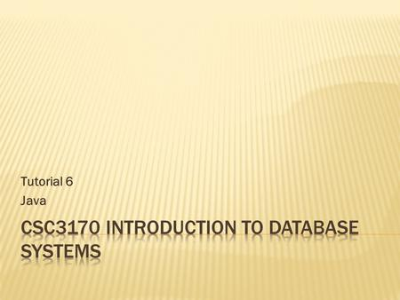 CSC3170 Introduction to Database Systems