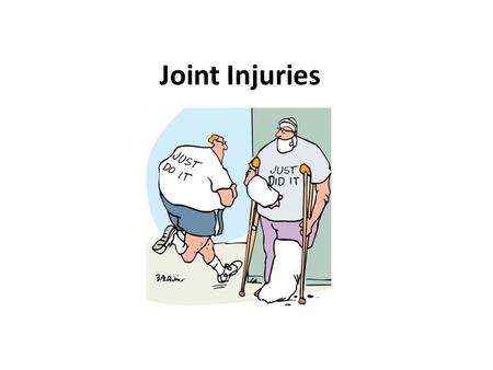 Joint Injuries. Common Sport Injury Terms Strains, Pulls & Tears Strains (associated with ligaments & tendon) Pulls & Tears (associated with muscle) Categorized.