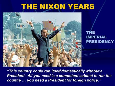 relationship between nixon and congress