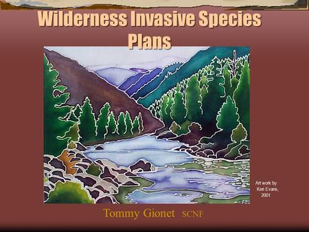 Wilderness Invasive Species Plans