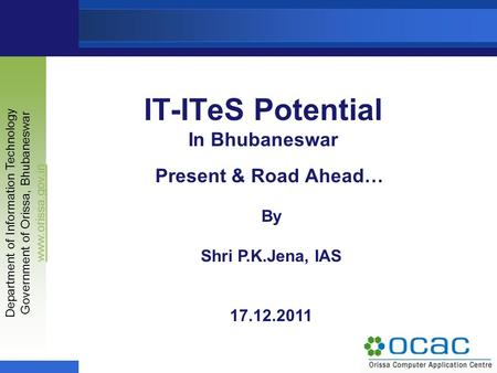 IT-ITeS Potential In Bhubaneswar
