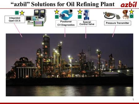 """azbil"" Solutions for Oil Refining Plant"